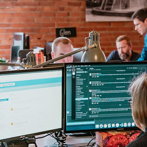 Female web developer focusing on ecommerce solutions