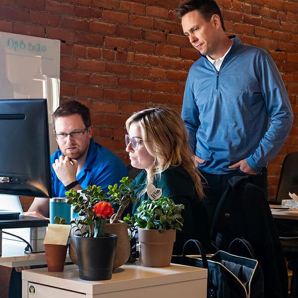 working together on UI/UX website design
